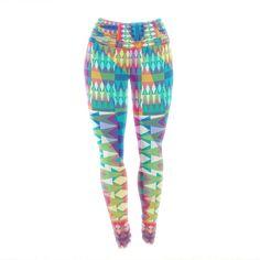 "Miranda Mol ""Triangle Quilt"" Multicolor Geometric Yoga Leggings from KESS InHouse#kessinhouse #kess #leggings #yoga #pilates #aerobics #sport #freetime #mirandamol"