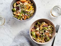 This bowl, packed with tons of veggies plus protein from the chickpeas, is easy, filling, and good for you—and thats hard to beat.