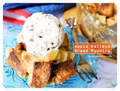 Apple Baileys Bread Pudding http://budgetpantry.com/apple-baileys-bread-pudding/
