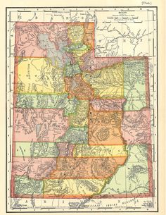 Old Map of Utah from 1904 a printable digital map, this is a good source for printable digital maps