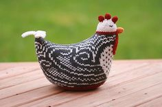 Just a few weeks ago, I made and entered this chicken in a local knitted chicken contest at Renaissance Yarns, for LYS Tour 2009. Guess what? It won! All of the chickens were so wonderful, and I re…