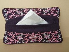 Tissue Case  Tissue Cover  Tissue Holder by MadeByMeEmbroidery, $8.00