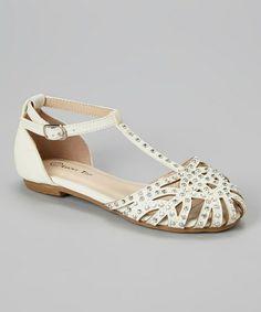 White Corner Sandal by Lucky Top #zulily #zulilyfinds