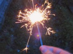 Sparklers - July 4th, 2015