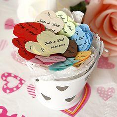 personlig hjerteformede konfetti (pose med 350 stykker) – DKK kr. 42