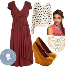 """""""The Terra Dress in Cinnamon"""" by modcloth ❤ liked on Polyvore"""