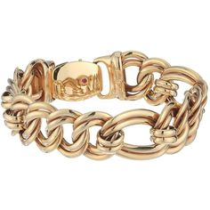 Roberto Coin 18K Flat Curb Link Bracelet (Rose) Bracelet ($5,600) ❤ liked on Polyvore featuring jewelry, bracelets, gold plated jewelry, hinged bangle, 18k gold plated jewelry, roberto coin jewelry and rose bangle