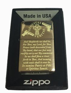 This is a custom Zippo Lighter! Made in the USA Lighter Finish - Brass Polished Lifetime Warranty