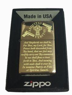 Zippo Custom Lighter - Boondock Saints Prayer Brass Polished Limited Edition