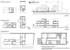 Maisons Jaoul, Neuilly-sur-Seine, France (1951-54) | Le Corbusier | Archweb 2D