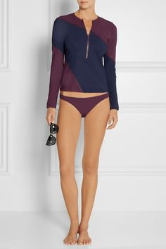FLAGPOLE SWIM Elliot color-block rash guard  €191.40 http://www.net-a-porter.com/products/527537