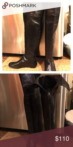 Vera Wang over the knee leather Lavender boot Beautiful Vera Wang over the knee boot. Excellent condition! Vera Wang Shoes Over the Knee Boots