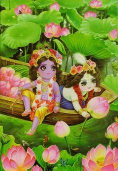 Krishna Balarama lotuses