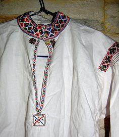 Yoke & Shoulder, Woman's Embroidered Blouse, Guri i Zi, Albania   by David&Bonnie