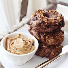 Chocolate Chip + Granola Bagels