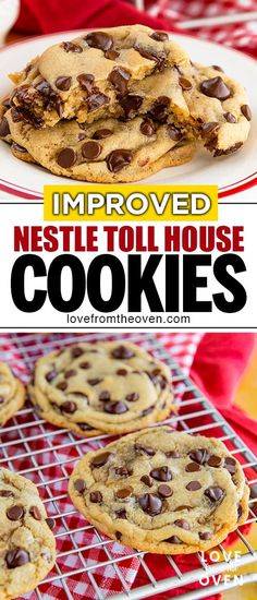chocolate chip cookies The Best Nestle Toll House Cookie Recipe Love From The Oven Nestle Chocolate Chip Cookies, Chocolate Cookie Recipes, Easy Cookie Recipes, Dessert Recipes, Easy Desserts, Original Toll House Chocolate Chip Cookies Recipe, Nestles Toll House Cookie Recipe, Healthy Chocolate, Cookie Ideas