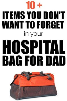 10 Items you may not have thought of for the hospital bag for dad. Hospital packing list for dads. Dad Hospital Bag, Hospital Bag For Mom To Be, Hospital Bag Checklist, Nursing Tips, Friends Mom, Pregnant Mom, Baby Hacks, Baby Tips, First Time Moms