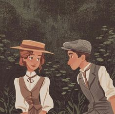 Forever drawing inspiration from Anne and Gilbert 🌸 Art And Illustration, Character Illustration, Animal Illustrations, Anne Auf Green Gables, Character Inspiration, Character Art, Art Sketches, Art Drawings, Image Deco