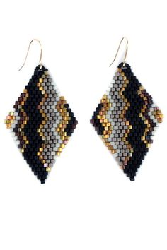 Zigzag Drop Earrings - main