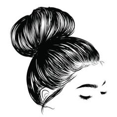 Woman with stylish classic bun with perfet eyebrow shaped and ful. Illustration … Woman with stylish classic bun with perfet eyebrow shaped and ful. Illustration of business hairstyle with natural long hair. Hand-drawn idea for gretting card, poster, flye Hairstyles Over 50, Older Women Hairstyles, Quick Hairstyles, Pixie Hairstyles, Brunette Hairstyles, Feathered Hairstyles, Everyday Hairstyles, Hair Sketch, Business Hairstyles