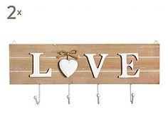 Set de 2 percheros de pared Amour