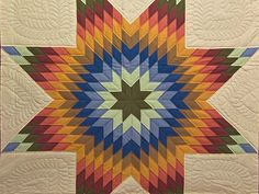 Lone Star Quilt - I have GOT to learn how to work that piecing...