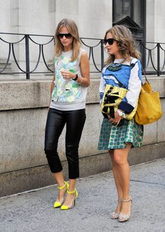 Two looks with ample accessory fodder.