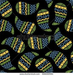 Seamless pattern of beautiful paisley cucumbers Aztec, Peruvian, Mayan, Mexican, Native American. Vector illustration