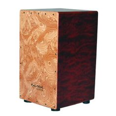 Tycoon Percussion 29 Series Bubinga Cajon With Makah Burl Front Panel by Tycoon Percussion. $172.36. Tycoon Percussion's 29 Series Bubinga Cajon's Makah Burl Front Panel enhances its acoustic properties, featuring an extended low end and loud, cutting slaps, with fully adjustable snares.  Each cajon is individually handmade and tested to ensure superior sound quality.