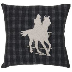 I pinned this Cheval Pillow in Black Olive & Misty White from the Ivy League Chic event at Joss and Main!
