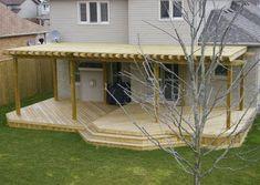 Backyard landscape designs, Backyard patio designs, Backyard pool designs, Backyard deck designs and Backyard design ideas Deck With Pergola, Pergola Shade, Diy Pergola, Gazebo, Big Deck, Pergola Plans, Pergola Ideas, Patio Ideas, Yard Ideas