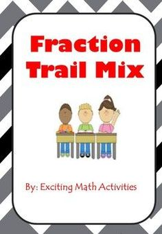 This lab allows students to practice fraction skills while creating a trail mix based on their results. Students work individually, in pairs or in groups to come up with the amount of each ingredient needed by solving fraction problems. They then get to