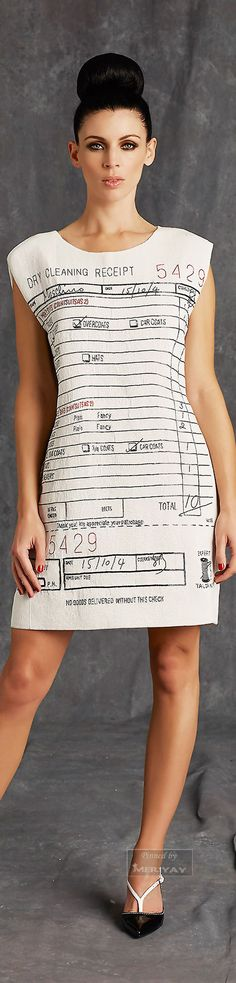 Moschino.white dress dry cleaner receipt  #UNIQUE_WOMENS_FASHION
