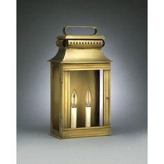 Northeast Lantern Concord 1 Light Outdoor Flush Mount Finish: Raw Brass, Shade Type: Clear Seedy