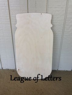 14 inch Wooden Cut out Mason Jar by LeagueofLetters on Etsy, $9.00