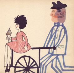Illustrations by Hana Stepanova for Florentina by James Kruss (Prague, Hana, Prague, Old And New, Graphic Illustration, Surrealism, Childrens Books, Illustrators, Book Art, Minnie Mouse
