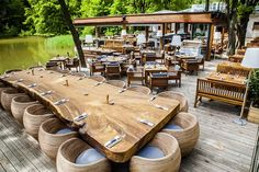 Klee am Hanslteich, Restaurant - Vienna, Austria Lokal, Outdoor Furniture Sets, Outdoor Decor, Travel Goals, Vienna, Good To Know, Places To See, Sweet Home, Patio