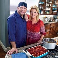 Oklahomans sure know how to cook! Garth Brooks and Trisha Yearwood filming for Food Network's Trisha's Southern Kitchen.