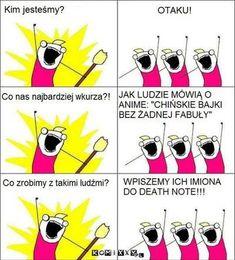 Memy z anime ✔️ - [Death Note] Naruto, Kakashi Sensei, Polish Memes, Anime Mems, Funny Mems, Boku No Hero Academy, Death Note, Adventure Time, Manga Anime