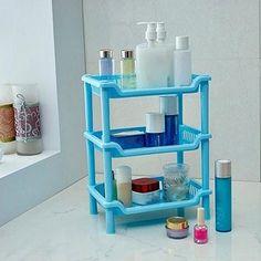 3 Layer Contracted Bathroom Kitchen Corner Shelf Cabinet Organizer Storage Rack #Affiliate