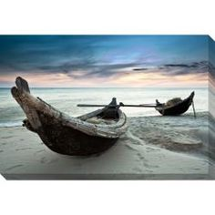 @Overstock - A contemporary take on a traditional scene, this serene gallery-wrapped canvas art looks fabulous whether you have a beach house or just wish you did. It's a reproduction print that comes ready to hang, with its wire and mounting hardware in place.http://www.overstock.com/Home-Garden/Boats-Oversized-Gallery-Wrapped-Canvas/6323217/product.html?CID=214117 $129.99