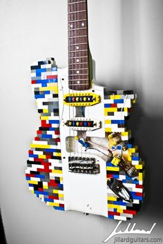 Image discovered by JcB. Find images and videos about guitar, handmade and lego on We Heart It - the app to get lost in what you love. Lego Guitar, Guitar Fender, Music Guitar, Cool Guitar, Playing Guitar, Guitar Books, Guitar Wall, Fender Custom Shop, Custom Guitars