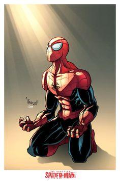 superior spider man lapices y tintas vallwulf colores yo
