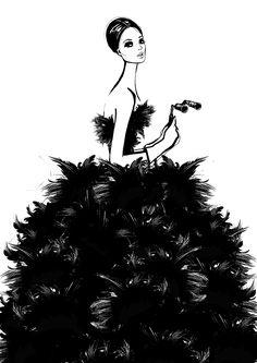 mulher com vestido estilo saia aberta