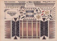 Dirigible / Zeppelin / Blimp vintage printable papercraft.