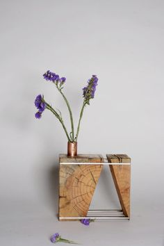 BLOCCO Due decorative wood vase by FunkTastik on Etsy, $75.00