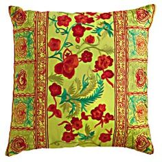 Changing out your throw pillows each season is like getting a new couch...okay, almost...a pair of these pretties would look super awesome on our red living room couch!