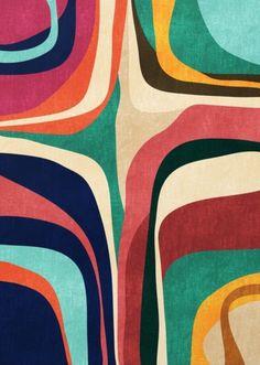Impossible contour map Art Print by Budi Satria Kwan Framed Maps, Framed Art Prints, Graphic Art Prints, Map Canvas, Canvas Prints, Wal Art, Motifs Textiles, Motif Vintage, Design Textile