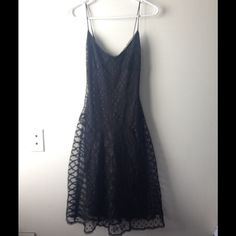 Betsey Johnson Sheer Lace Dress Absolutely gorgeous sheer lace dress by Betsey Johnson! Fully lined. Lace flares out at the bottom! Size 4. Feel free to make an offer! Betsey Johnson Dresses