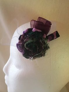 Mixed Pattern Fascinator by DaintylaceDesign on Etsy